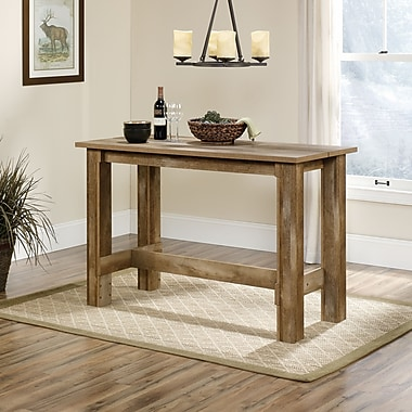 Sauder Boone Mountain Cntr Hgt Dining Table, Craftsman Oak