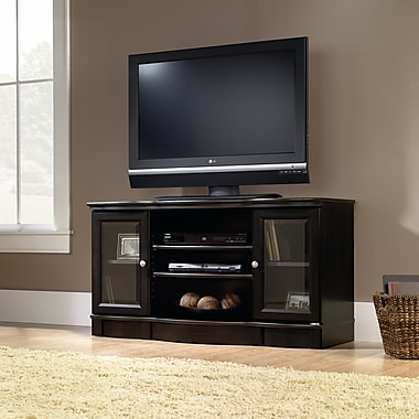 Sauder Regent Place Panel TV Stand, Estate Black