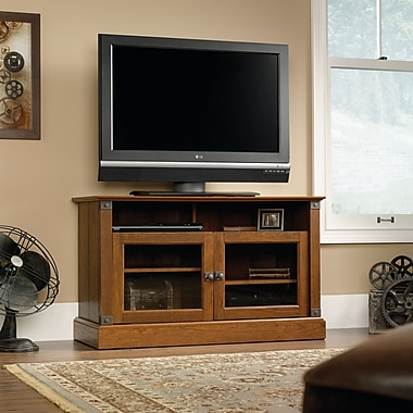 Sauder Carson Forge Panel TV Stand, Washington Cherry