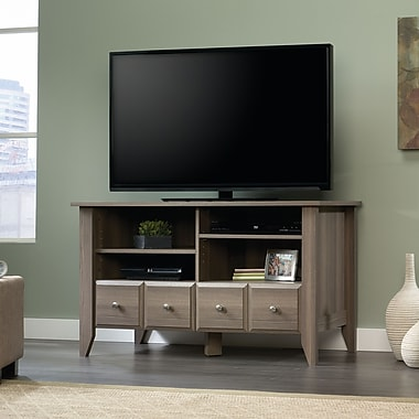 Sauder Shoal Creek Panel TV Stand, Diamond Ash