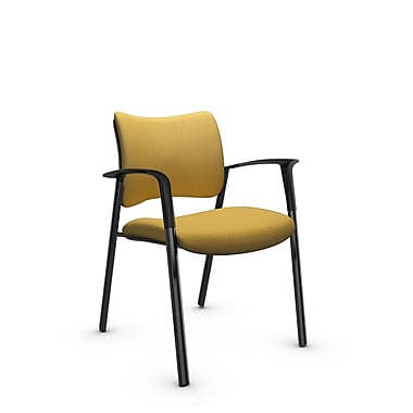 Global Zoma Designer Armchair, Imprint, Currie Fabric, Yellow
