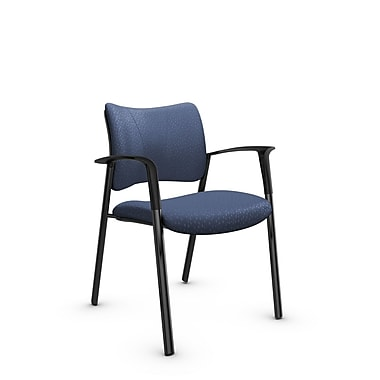 Global Zoma Designer Armchair, Match, Blue Fabric, Blue