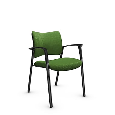 Global Zoma Designer Armchair, Match, Green Fabric, Green