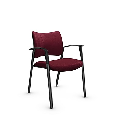Global Zoma Designer Armchair, Match, Burgundy Fabric, Red