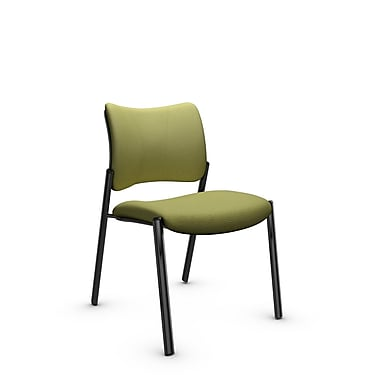 Global Zoma Designer Side Chair, Imprint, Celery Fabric, Green