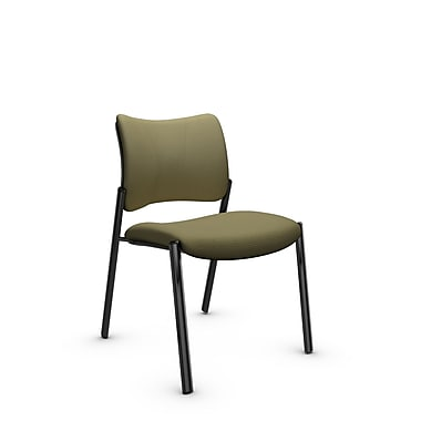 Global Zoma Designer Side Chair, Imprint, Oregano Fabric, Green