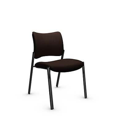 Global Zoma Designer Side Chair, Imprint, Walnut Fabric, Brown