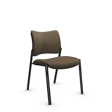 Global Zoma Designer Side Chair, Match, Sand Fabric, Brown