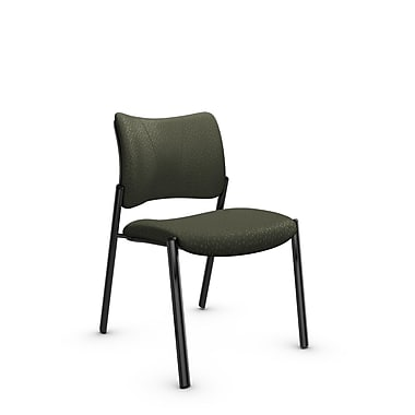 Global Zoma Designer Side Chair, Match, Moss Fabric, Green