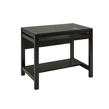Brassex 151140 Computer Desk with Pull-Out Keyboard Tray, Dark Cherry