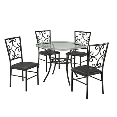 Brassex 52401 5-Piece Kitchen Set, Black