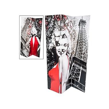 Brassex MX-1001 Room Divider, Marilyn Monroe Print