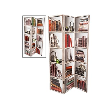 Brassex MX-1005 Room Divider, Book Print
