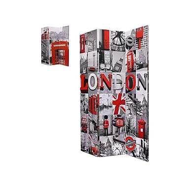 Brassex MX-1012 Room Divider, London Print