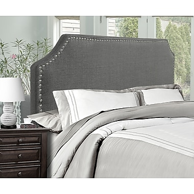 Brassex 1510F-GR Full Size Headboard, Grey
