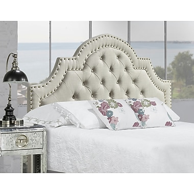 Brassex 1513Q-GR Queen Size Headboard, Grey