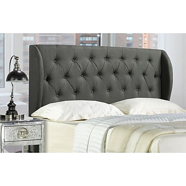 Brassex 1514Q-GR Queen Size Headboard, Grey