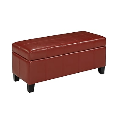 Cayman 2006-RD Storage Ottoman, Red