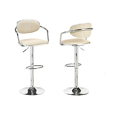Brassex YS-8628-BEI Adjustable Bar Stool, Set of 2, Beige
