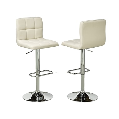 Brassex YS-8052-BEI Adjustable Bar Stool, Set of 2, Beige