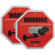 SecurityMan SIGN2PK-FR Surveillance Warning Sign, French, 2/Pack