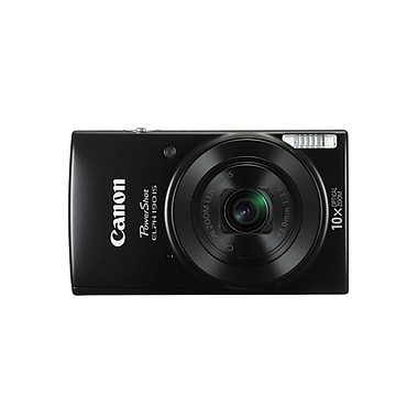 Canon PowerShot ELPH190 IS Digital Camera, 20.0 MP, 10x Optical Zoom, Black