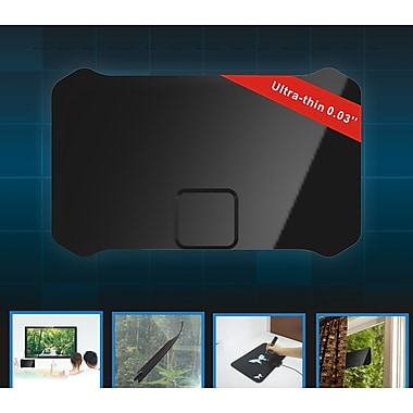 Digiwave – Antenne TVHD ultramince, 9,3 x 5,7 x 1,2 po, noir