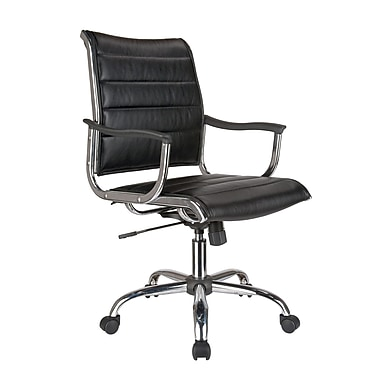 TygerClaw Modern Professional Mid Back Office Chair, 25.6
