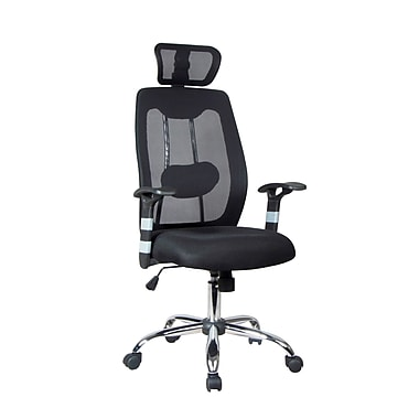 TygerClaw Professional Air Grid High Back Mesh Chair with Headrest, 23.2