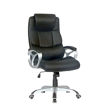 TygerClaw Executive High Back Leather Office Chair with Headrest, 25.6