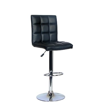 TygerClaw Bar Stool with Back support, 17.7