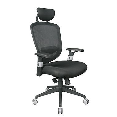TygerClaw Air Grid High Back Office Chair with Headrest, 25.6