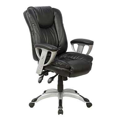 TygerClaw High Back Leather Office Chair, 25.6