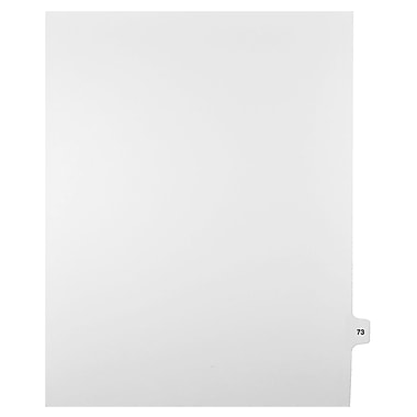 Mark Maker Legal Exhibit Index Tab White Single Tabs, 1/15th Cut, Letter Size, No Holes, Number 73, 25/Pack