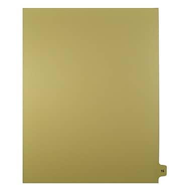 Mark Maker – Onglets séparateurs juridiques beiges, 1/15 onglets, format lettre, sans trous, numéro 15, 25/paquet