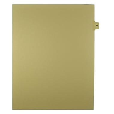 Mark Maker – Onglets séparateurs juridiques beiges, 1/15 onglets, format lettre, sans trous, numéro 33, 25/paquet