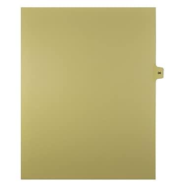 Mark Maker – Onglets séparateurs juridiques beiges, 1/15 onglets, format lettre, sans trous, numéro 36, 25/paquet