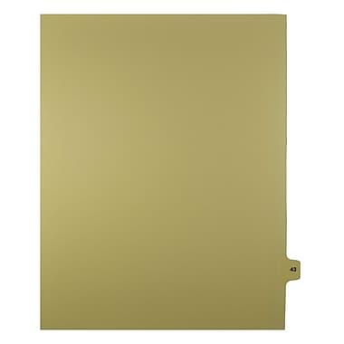 Mark Maker – Onglets séparateurs juridiques beiges, 1/15 onglets, format lettre, sans trous, numéro 43, 25/paquet