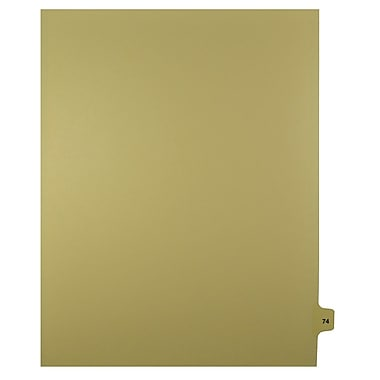 Mark Maker – Onglets séparateurs juridiques beiges, 1/15 onglets, format lettre, sans trous, numéro 74, 25/paquet