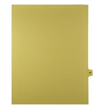 Mark Maker – Onglets séparateurs juridiques beiges, 1/15 onglets, format lettre, sans trous, numéro 86, 25/paquet