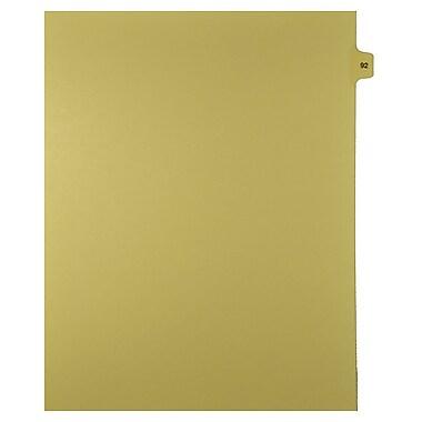 Mark Maker – Onglets séparateurs juridiques beiges, 1/15 onglets, format lettre, sans trous, numéro 92, 25/paquet