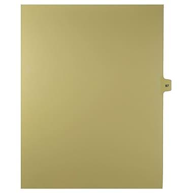 Mark Maker – Onglets séparateurs juridiques beiges, 1/15 onglets, format lettre, sans trous, numéro 97, 25/paquet