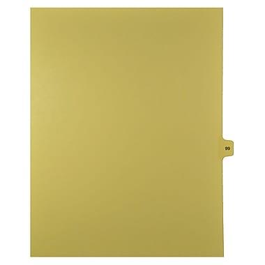 Mark Maker – Onglets séparateurs juridiques beiges, 1/15 onglets, format lettre, sans trous, numéro 99, 25/paquet