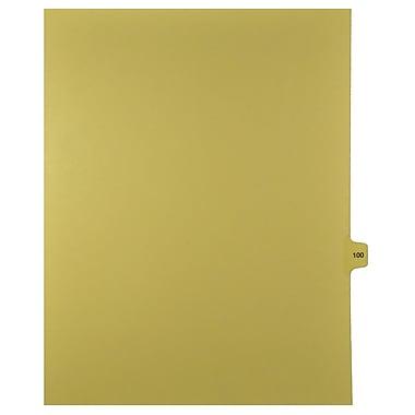 Mark Maker – Onglets séparateurs juridiques beiges, 1/15 onglets, format lettre, sans trous, numéro 100, 25/paquet