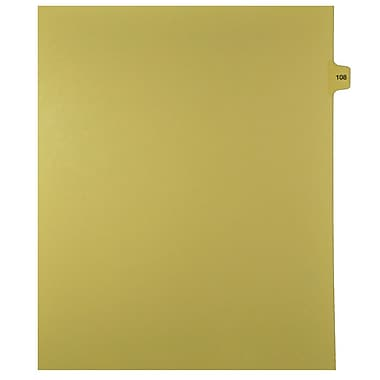 Mark Maker Legal Exhibit Index Tab Buff Single Tabs, 1/15th Cut, Letter Size, No Holes, Number 108, 25/Pack