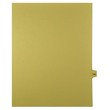 Mark Maker – Onglets séparateurs juridiques beiges, 1/15 onglets, format lettre, sans trous, numéro 146, 25/paquet