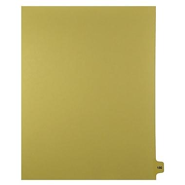 Mark Maker – Onglets séparateurs juridiques beiges, 1/15 onglets, format lettre, sans trous, numéro 150, 25/paquet