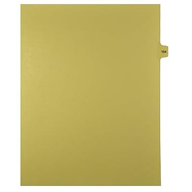 Mark Maker – Onglets séparateurs juridiques beiges, 1/15 onglets, format lettre, sans trous, numéro 154, 25/paquet