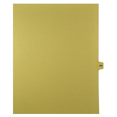 Mark Maker – Onglets séparateurs juridiques beiges, 1/15 onglets, format lettre, sans trous, numéro 159, 25/paquet