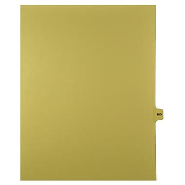Mark Maker – Onglets séparateurs juridiques beiges, 1/15 onglets, format lettre, sans trous, numéro 160, 25/paquet
